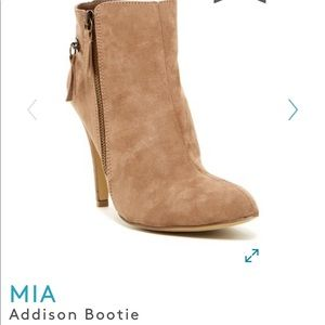 Sold out Mia Addison Bootie Beige with zippers